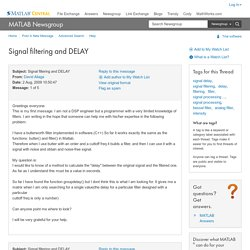 MATLAB Central - Signal filtering and DELAY
