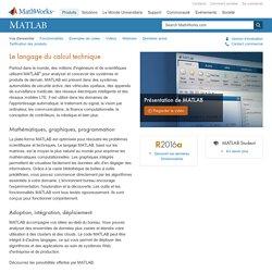 MATLAB– Le langage du calcul technique