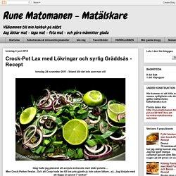 Crock-Pot Lax med Lökringar och syrlig Gräddsås - Recept