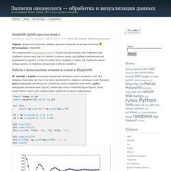 Записки океанолога - обработка и визуализация данных