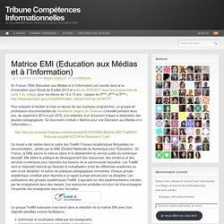 Matrice EMI (Education aux Médias et à l'Information)