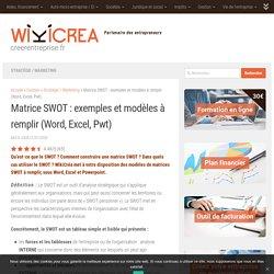 Matrice SWOT : exemples et modèles à remplir (Word, Excel, Pwt)