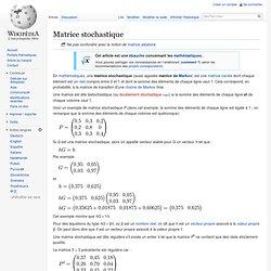 Matrice stochastique