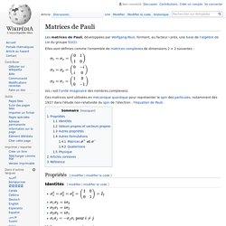 Matrices de Pauli