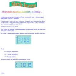 Matrices, Tu Software Educativo