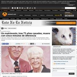 Un matrimonio, tras 73 años casados, muere con cinco minutos de diferencia