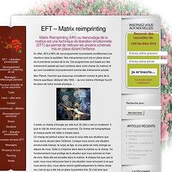 EFT - Matrix reimprinting