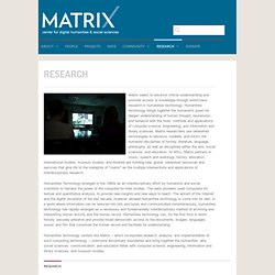 MATRIX: The Center for Humane, Arts, Letters and Social Sciences Online » Research