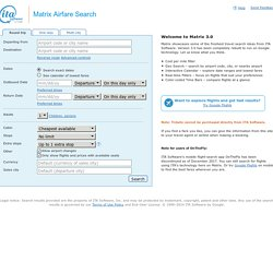 ITA Airfare Search