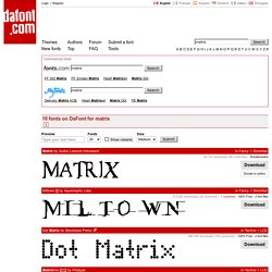 matrix - Search - dafont.com