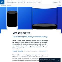 Matsalsmatte · Nicklas Mörk