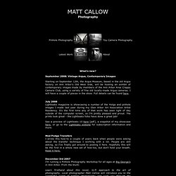 Matt Callow - Photography