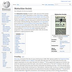 Mattachine Society