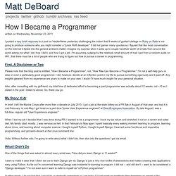 MattDeBoard.net
