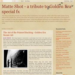 Matte Shot - a tribute to Golden Era special fx: June 2011