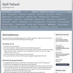 Matteintervju - www.kjelltotland.com