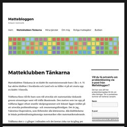 Matteklubben Tänkarna - Mattebloggen
