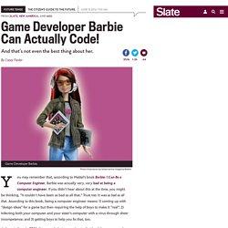 Mattel's Game Developer Barbie is fantastic.