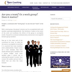 Are you a team? Or a work group? Does it matter?