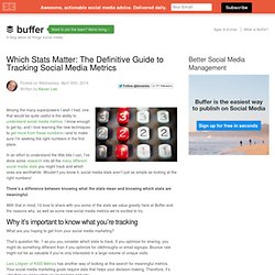 Which Stats Matter: A Definitive Guide to Social Media Metrics