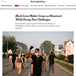 Black Lives Matter Grows as Movement While Facing New Challenges