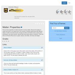 Matter: Properties
