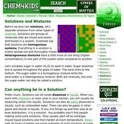 Matter: Solutions
