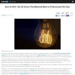 Best of 2013: The Stories That Mattered Most to Professionals This Year