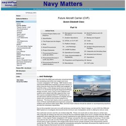Navy Matters | Future Aircraft Carrier Part 14