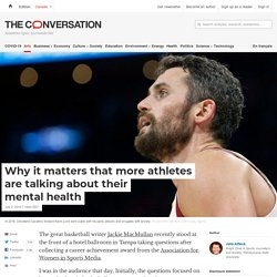 Why it matters that more athletes are talking about their mental health