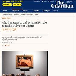 Why it matters to call external female genitalia 'vulva' not 'vagina'