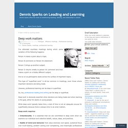 Dennis Sparks on Leading and Learning