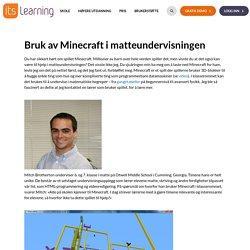 Bruk av Minecraft i matteundervisningen - itslearning - Norge