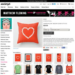 Love Throw Pillow by Matthew Fleming