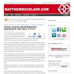 Visual social bookmarking: Innovative, but will it fly?