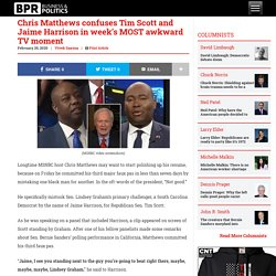 Chris Matthews confuses Tim Scott and Jaime Harrison in week's MOST awkward TV moment