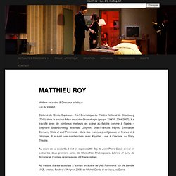 Matthieu Roy : biographie