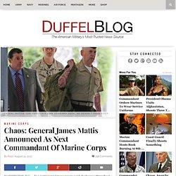 General Mattis Announced As Next Commandant of Marine Corps