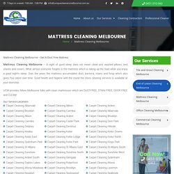 Mattress Cleaning Melbourne - Stain and Odor Free Mattress