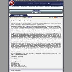 Tier4 Mattress Releases New Website