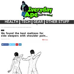 We found the best mattress for side sleepers with shoulder pain....