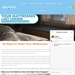 10 Ways to Make Your Mattresses