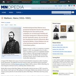 Mattson, Hans (1832–1893)