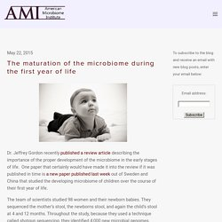 The maturation of the microbiome during the first year of life — The American Microbiome Institute