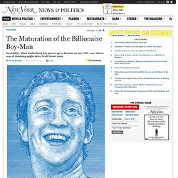 The Maturation of Mark Zuckerberg