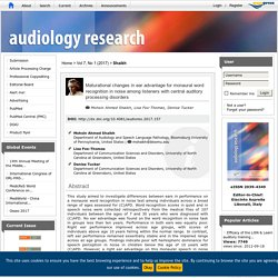 Maturational changes in ear advantage for monaural word recognition in noise among listeners with central auditory processing disorders