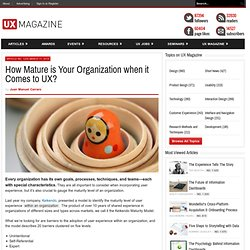 How Mature is Your Organization when it Comes to UX?
