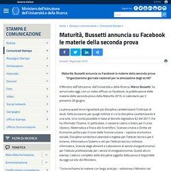 Maturità, Bussetti annuncia su Facebook le materie della seconda prova