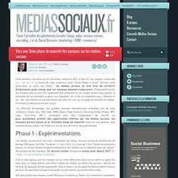 Vers une 3ème phase de maturité des marques sur les médias sociaux