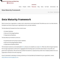 Data Maturity Framework - Center for Data Science and Public Policy
